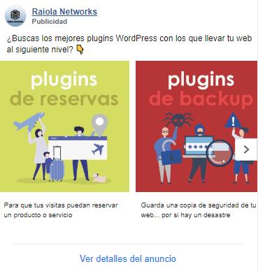 Anuncio Facebook ads ejemplo